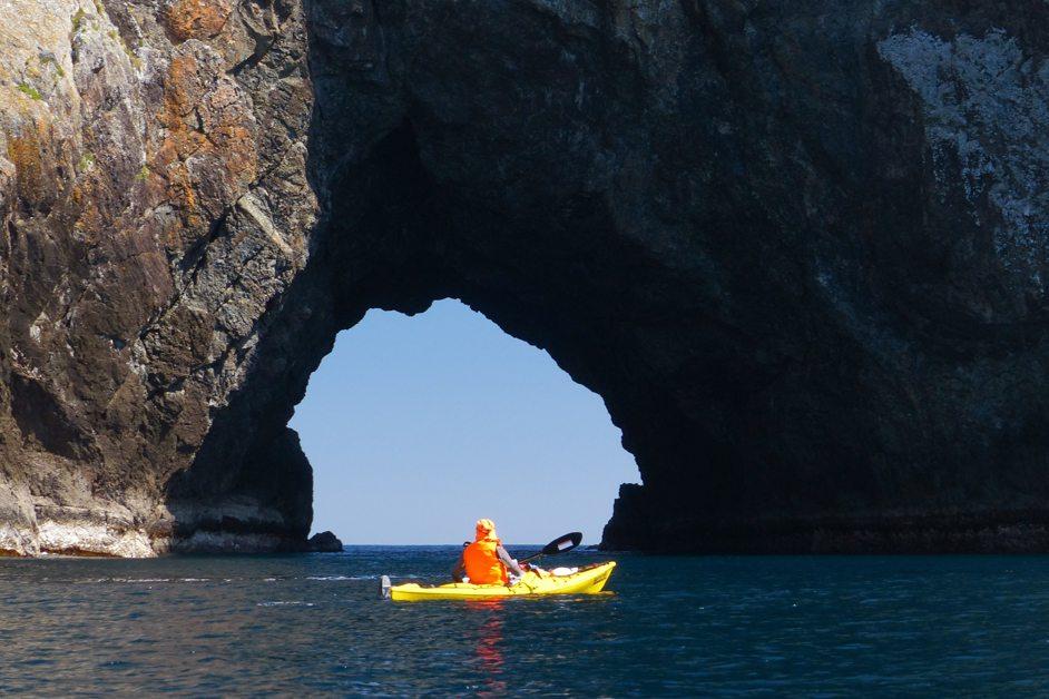 Sea kayaking Urupukapuka